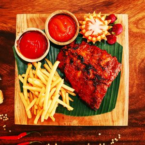 Pork Ribs Sweet and Spicy - Warung Pondok Madu